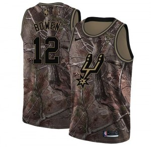 Nike Maillots De Basket Bruce Bowen Spurs Camouflage No.12 Homme Realtree Collection
