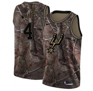 Nike NBA Maillots White San Antonio Spurs No.4 Realtree Collection Camouflage Homme