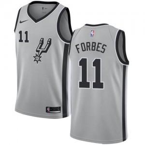 Maillots De Bryn Forbes San Antonio Spurs Statement Edition #11 Nike Homme Argent