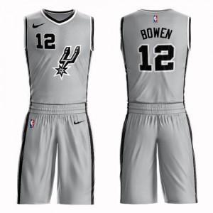 Nike Maillot Bowen San Antonio Spurs No.12 Suit Statement Edition Homme Argent