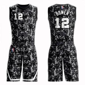 Maillots Bruce Bowen Spurs #12 Enfant Nike Suit City Edition Camouflage
