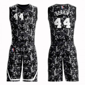 Nike NBA Maillots Basket George Gervin Spurs Suit City Edition Camouflage #44 Homme