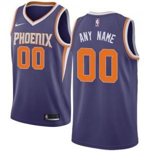Maillot Personnaliser De Basket Phoenix Suns Violet Nike Homme Icon Edition