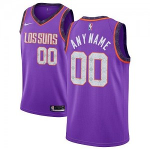 Maillot Personnalisable De Basket Suns Nike Enfant Violet 2018/19 City Edition