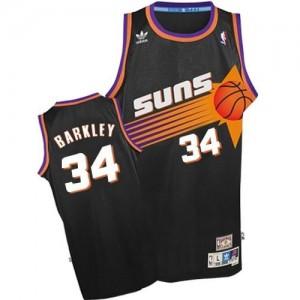 Adidas NBA Maillot Basket Charles Barkley Phoenix Suns Throwback Noir No.34 Homme