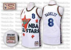 Maillot De Charles Barkley Phoenix Suns Homme Blanc No.8 1995 All Star Throwback Adidas