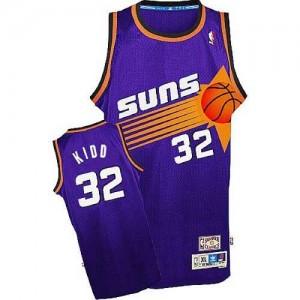 Adidas NBA Maillots Jason Kidd Phoenix Suns No.32 Throwback Violet Homme
