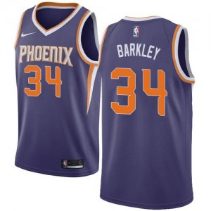 Nike NBA Maillots Barkley Suns Violet Icon Edition Enfant No.34