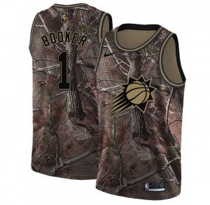 Nike Maillot Basket Devin Booker Phoenix Suns No.1 Homme Camouflage Realtree Collection