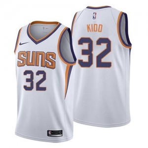 Maillot Jason Kidd Suns Blanc No.32 Enfant Association Edition Nike