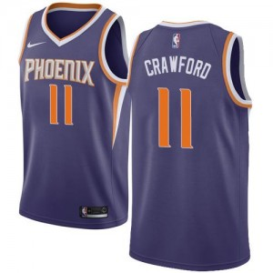 Nike NBA Maillot Jamal Crawford Phoenix Suns Enfant Icon Edition Violet No.11
