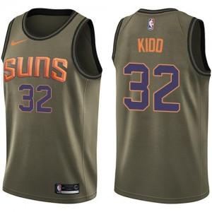 Nike NBA Maillots Basket Kidd Suns vert Enfant No.32 Salute to Service