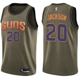 Nike Maillots De Basket Josh Jackson Suns Salute to Service No.20 vert Homme