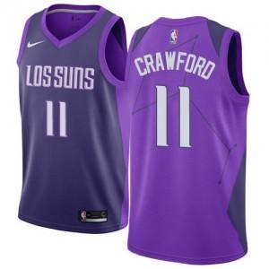 Nike Maillot Basket Crawford Suns Homme City Edition #11 Violet