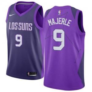 Nike Maillots De Basket Majerle Phoenix Suns No.9 Violet City Edition Enfant