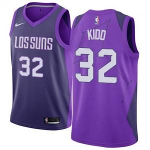Nike NBA Maillots Basket Kidd Suns City Edition Homme #32 Violet
