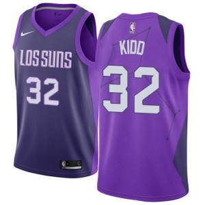 Nike NBA Maillot Jason Kidd Suns City Edition Enfant No.32 Violet
