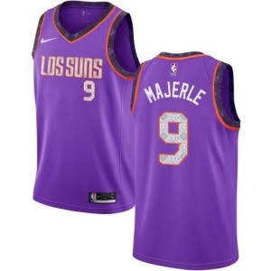 Nike NBA Maillots Basket Dan Majerle Suns Enfant 2018/19 City Edition No.9 Violet