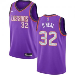 Nike Maillot Shaquille O'Neal Phoenix Suns No.32 Violet Enfant 2018/19 City Edition