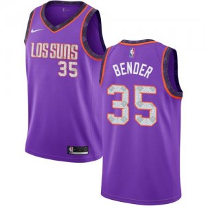 Nike NBA Maillots De Dragan Bender Phoenix Suns 2018/19 City Edition No.35 Violet Enfant