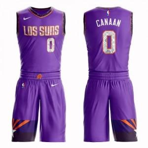 Maillots De Basket Isaiah Canaan Phoenix Suns Enfant Suit City Edition Nike Violet #0