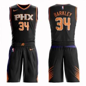Nike NBA Maillots Basket Charles Barkley Phoenix Suns Noir Suit Statement Edition Enfant #34