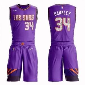 Nike Maillot De Barkley Suns No.34 Suit City Edition Homme Violet