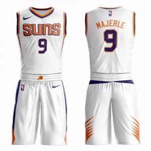 Nike NBA Maillots De Dan Majerle Phoenix Suns No.9 Suit Association Edition Blanc Homme