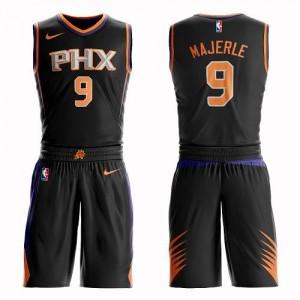 Maillots De Basket Majerle Suns No.9 Homme Suit Statement Edition Nike Noir