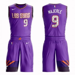 Nike Maillots Dan Majerle Suns Suit City Edition Homme Violet No.9