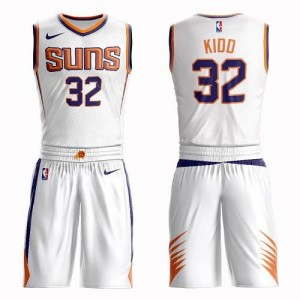 Maillots Basket Jason Kidd Phoenix Suns No.32 Suit Association Edition Nike Enfant Blanc
