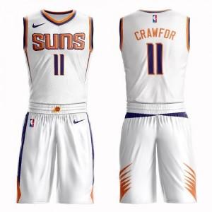 Maillot De Basket Crawford Suns Homme Suit Association Edition Blanc Nike No.11