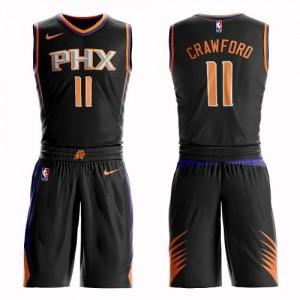 Nike NBA Maillot Basket Jamal Crawford Phoenix Suns #11 Suit Statement Edition Enfant Noir