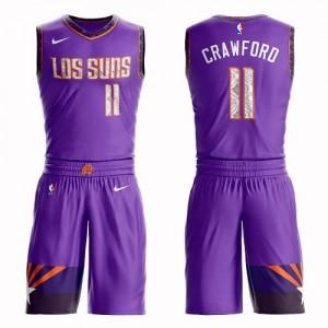 Nike NBA Maillot Basket Crawford Suns Violet No.11 Enfant Suit City Edition
