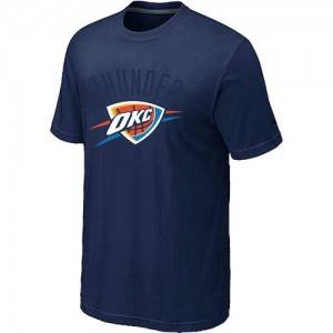 Tee-Shirt De Oklahoma City Thunder bleu marine Homme Big & Tall Primary Logo