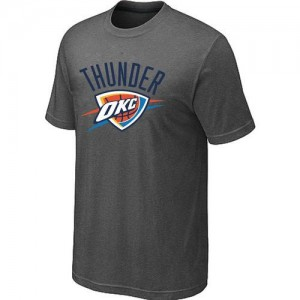 NBA T-Shirt De Oklahoma City Thunder Big & Tall Primary Logo Homme Gris foncé