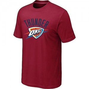 NBA Tee-Shirt Thunder Rouge Big & Tall Primary Logo Homme