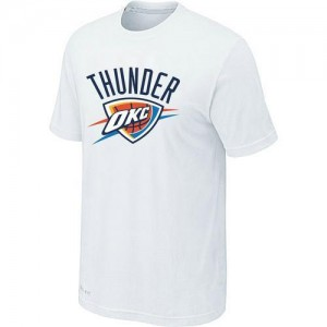 NBA Tee-Shirt Oklahoma City Thunder Blanc Homme Big & Tall Primary Logo