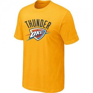 NBA Tee-Shirt De Basket Oklahoma City Thunder Big & Tall Primary Logo Jaune Homme