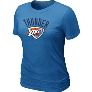 T-Shirt De Basket Thunder Big & Tall Primary Logo Bleu clair Femme