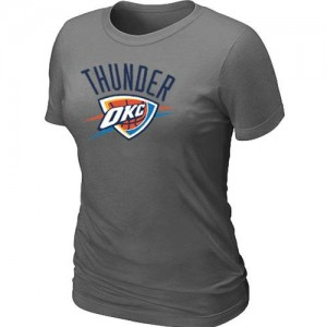 NBA Tee-Shirt De Oklahoma City Thunder Femme Gris foncé Big & Tall Primary Logo