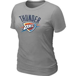 T-Shirt Basket Oklahoma City Thunder Gris Femme Big & Tall Primary Logo