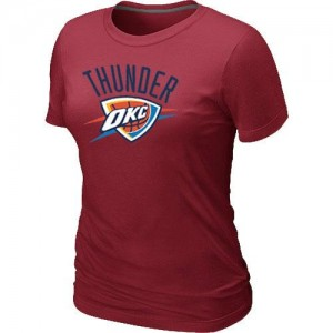 NBA T-Shirt De Basket Oklahoma City Thunder Big & Tall Primary Logo Femme Rouge