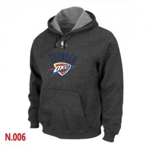 Hoodie De Basket Oklahoma City Thunder Homme Pullover Gris foncé