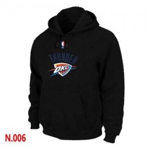 NBA Sweat à capuche Thunder Pullover Homme Noir
