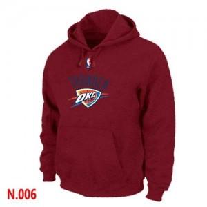 Sweat à capuche De Basket Thunder Rouge Homme Pullover