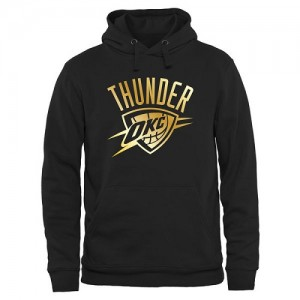 Hoodie Oklahoma City Thunder Gold Collection Pullover Homme Noir