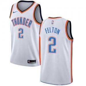 Nike NBA Maillots De Basket Felton Oklahoma City Thunder Blanc Association Edition No.2 Homme