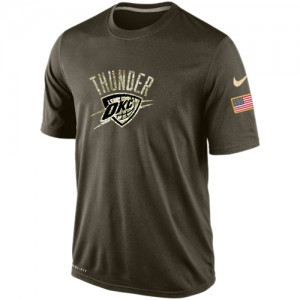 T-Shirt Oklahoma City Thunder Nike Homme Olive Salute To Service KO Performance Dri-FIT
