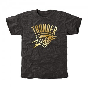 Tee-Shirt De Basket Oklahoma City Thunder Gold Collection Tri-Blend Noir Homme